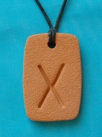 The GEBO Rune, a symbol of gift relationship, love, marriage, generosity, unexpected good fortune