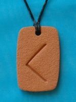 The KENAZ Rune, a symbol of Torch, wisdom, insight, enlightenment, creativity, inspiration