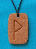 The WUNJO Rune, a symbol of glory, bliss, peace, pleasure, success, reward, joy, achievement of goals, contentment