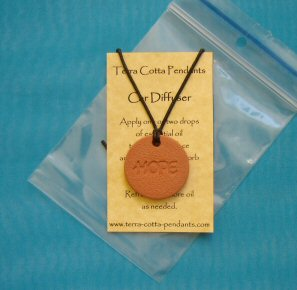 The Hope Terra Cotta Pendant diffuser necklace