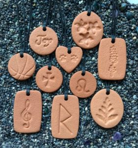 10 of the beautiful Terra Cotta Pendant diffuser necklaces