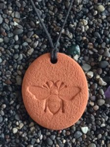 The beautiful Terra Cotta Pendant Bee design
